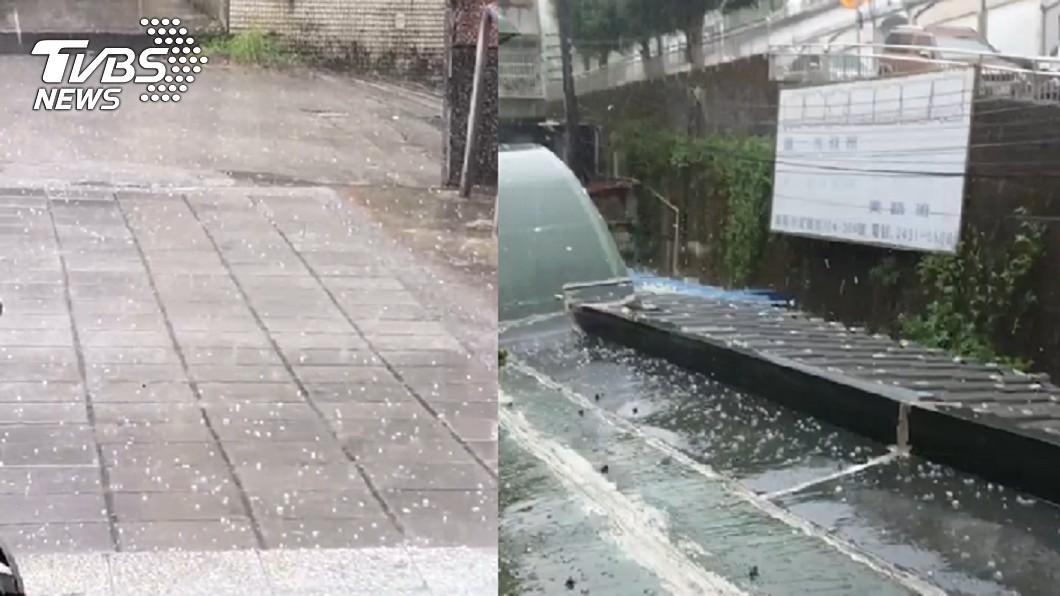 圖/TVBS 對流劇烈!基隆罕見下冰雹 網驚:民間有冤情