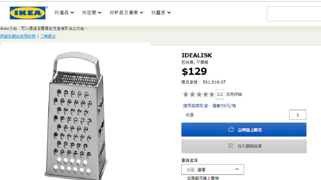 外殼佈滿了密集的散熱口的Mac Pro,被網友譏為像IKEA的刨絲器。圖/翻攝自IKEA網站