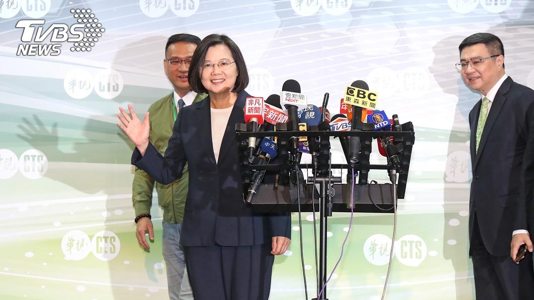 圖/中央社 蔡賴闡述施政理念 平常心面對初選政見會