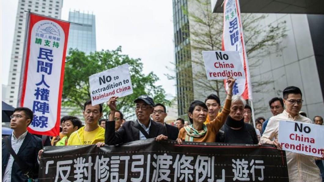 圖/翻攝自端傳媒 Stanley Leung 香港9日反《逃犯條例》遊行 預估萬人上街