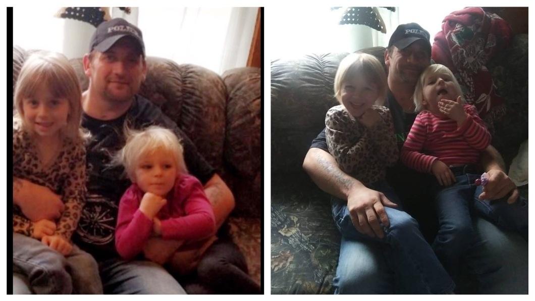 美國一名人父為了挽救愛女,與兇猛的拳師犬搏鬥。(合成圖/翻攝自募款網站GoFundMe和臉書) 5歲女遭惡犬攻擊…勇父赤手空拳救人 心臟病發蒙主寵召