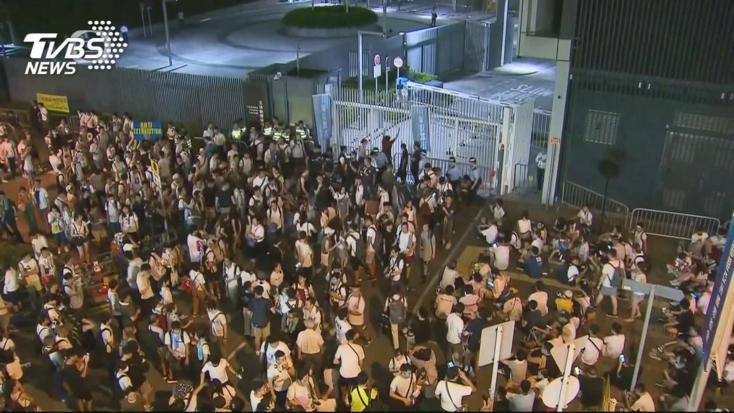 圖/TVBS 香港眾志:抗爭升級 籲民眾包圍立法會