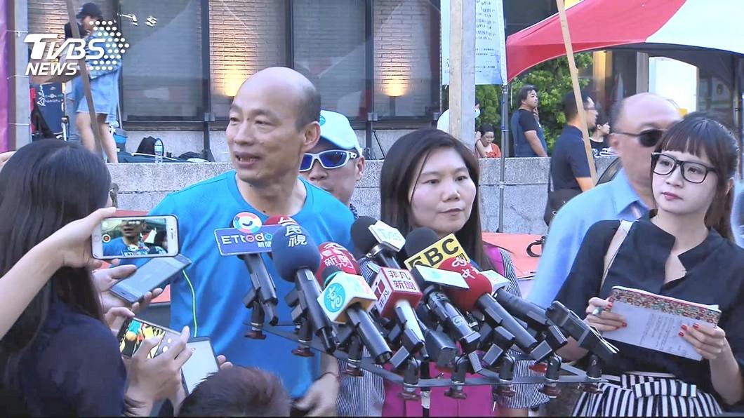 圖/TVBS 評香港反送中 韓國瑜以「我不知道」帶過