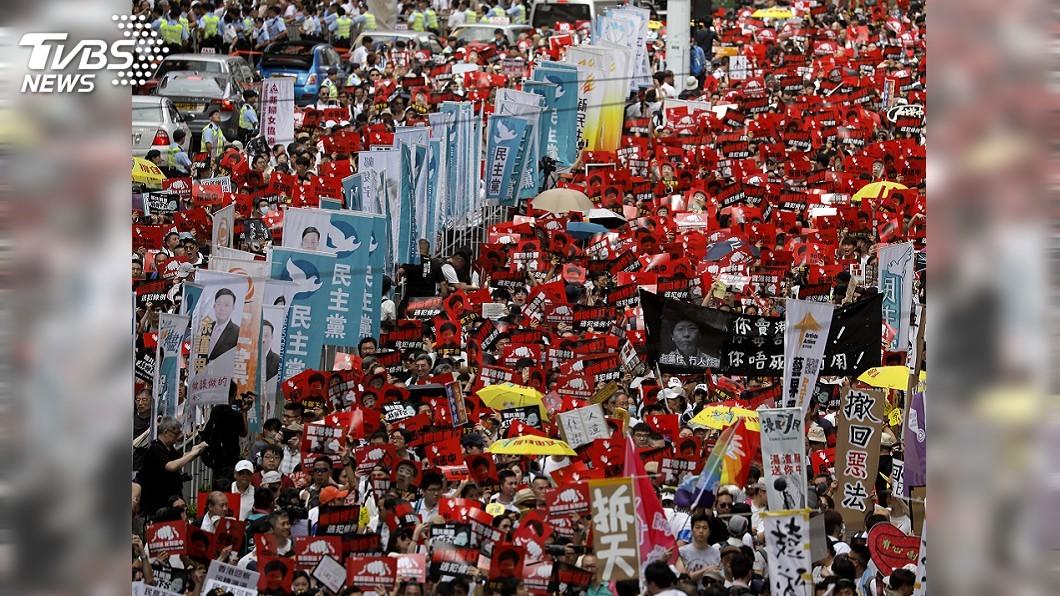 圖/達志影像美聯社 1/7港人上街! 全球媒體關注「反送中」