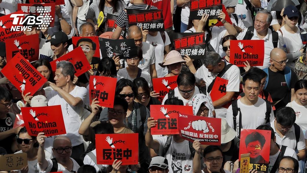 圖/達志影像美聯社 103萬人「反送中」 陸:反外部勢力干涉立法