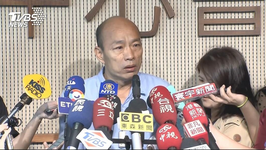 高雄市長韓國瑜。圖/TVBS 「反送中」回應太慢被罵翻?韓喊冤:總統也是晚上才發文