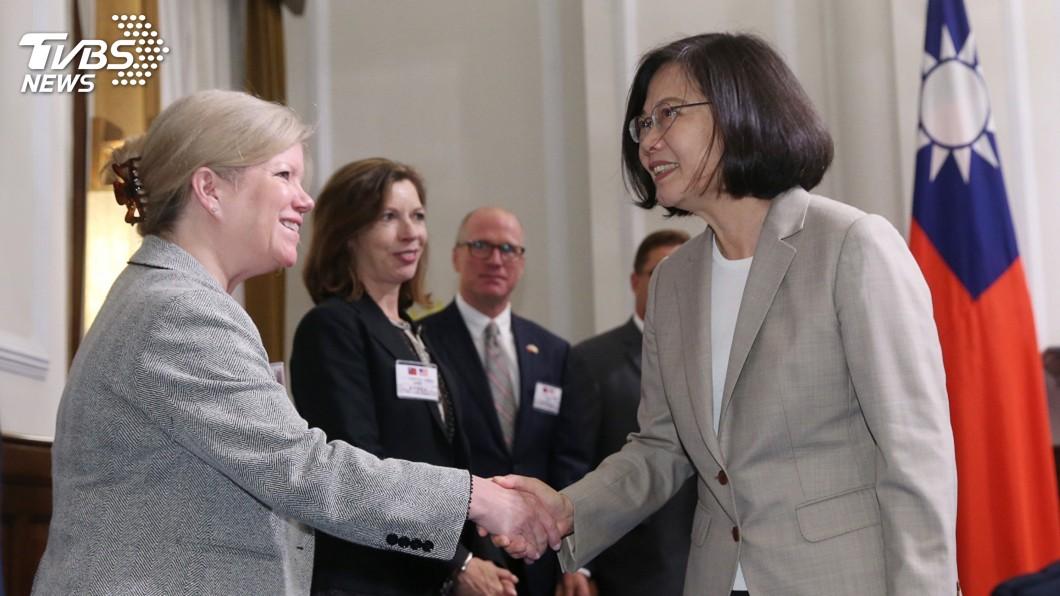 圖/中央社 蔡總統:持續與美合作 因應區域危險及挑戰
