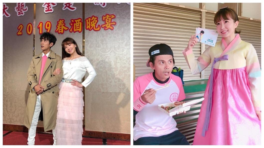 阿翔和謝忻被拍到激吻照疑似傳出不倫戀,演藝圈的好友都十分震驚。(圖/翻攝自謝忻臉書粉絲團)