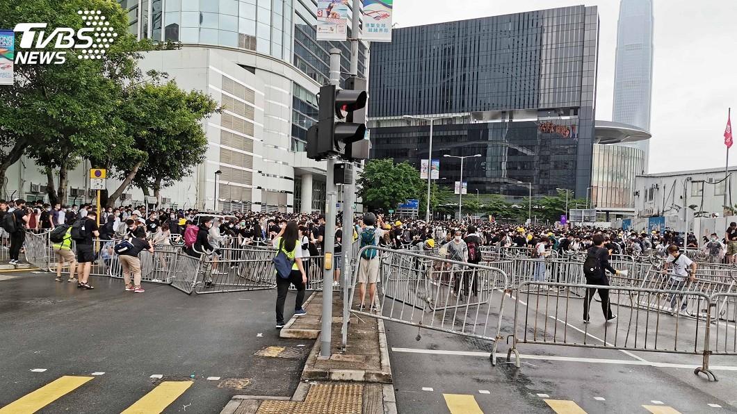 反送中占領 示威人士:目標阻止逃犯條例二讀