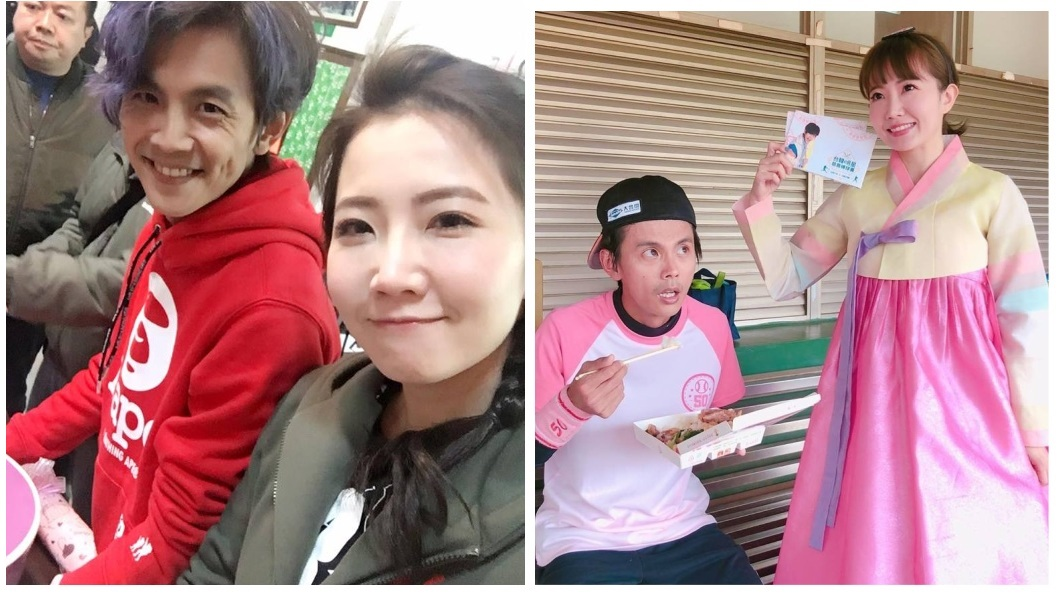 藝人阿翔(左)和女星謝忻(右)遭週刊踢爆在街上激吻。圖/翻攝自謝忻臉書粉絲團 阿翔偷吃不只激吻這次! 被爆邀女學生「睡飯店」