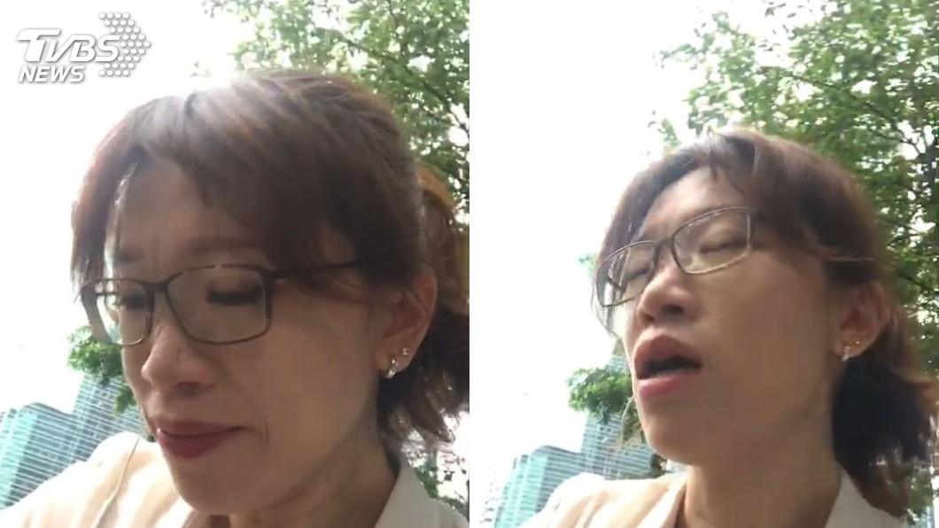 本台記者也因為現場施放催淚彈,頻頻流淚及咳嗽!圖/TVBS