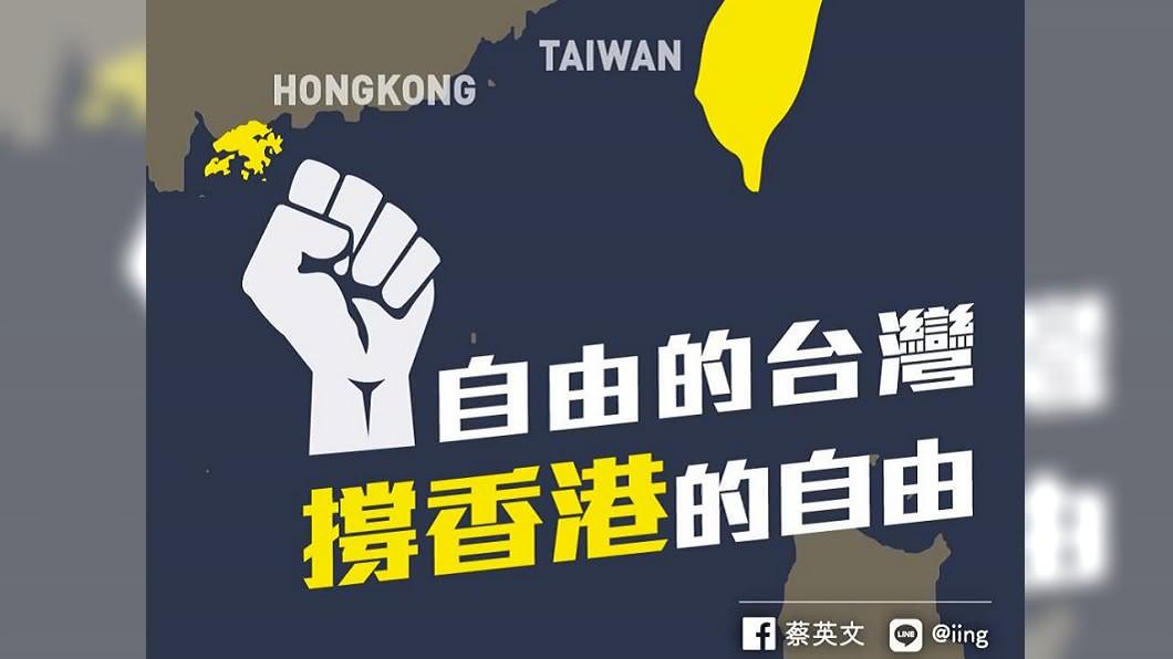 快訊/震驚港府鎮壓 蔡總統臉書發文挺香港