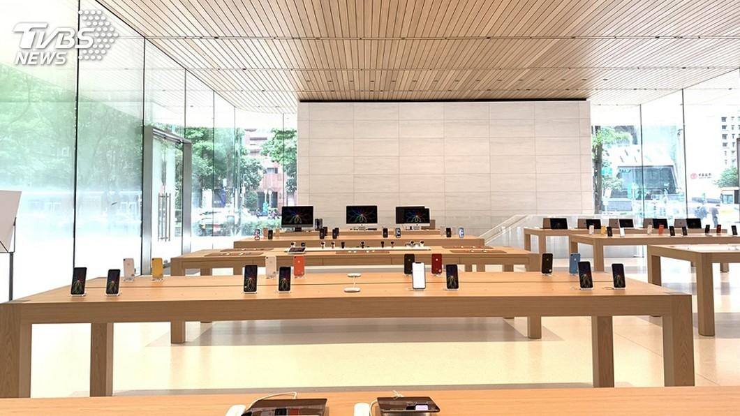 圖/中央社 蘋果在台設第2家直營店 設計比照總部訪客中心