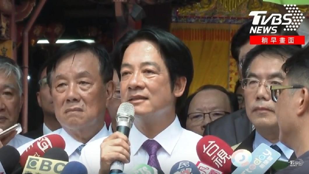 圖/TVBS 親致電蔡英文 賴清德:務必團結!全力支持總統連任