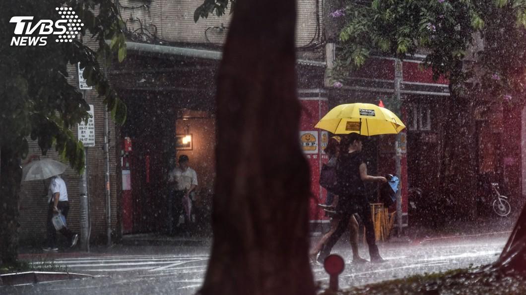 圖/中央社 東北季風及華南雲雨區影響 4縣市大雨特報