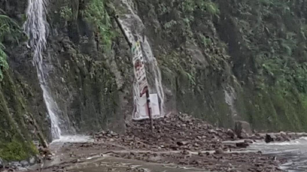 圖/翻攝鄉長劉美蘭臉書 暴雨淹水+坍方!苗栗3幼兒園、南投仁愛國小停課