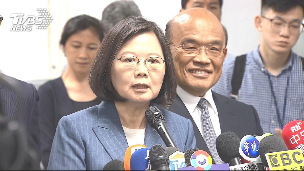 圖/TVBS 傳已見柯文哲 蔡總統:不實傳聞