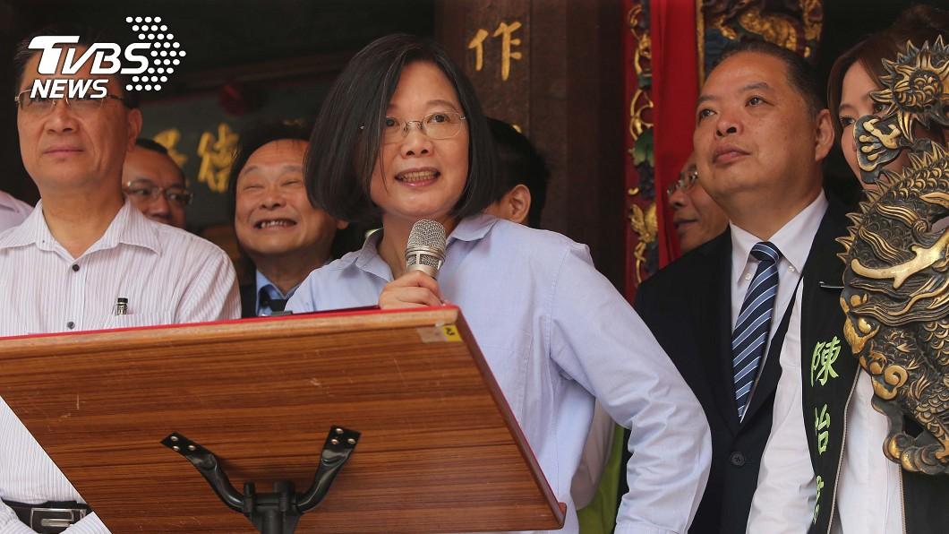 總統蔡英文。圖/中央社 港客道謝支持香港 蔡總統:台灣會撐住民主自由