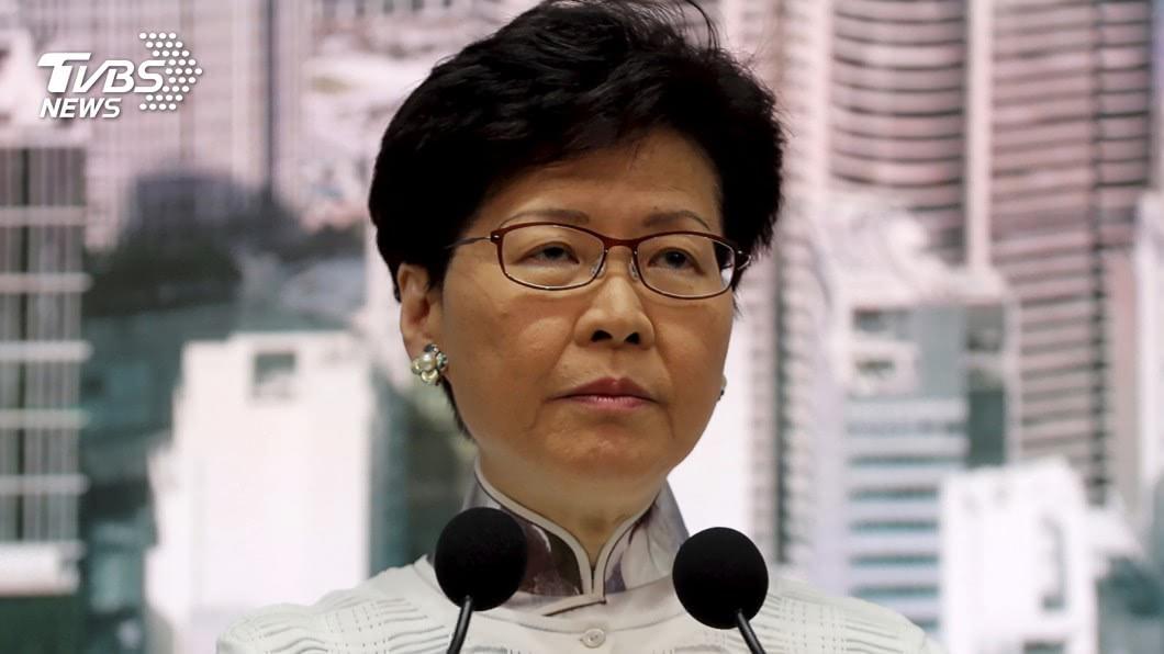 特首林鄭月娥晚間發表301字聲明,停止修訂逃犯條例。(圖/達志影像美聯社,TVBS)
