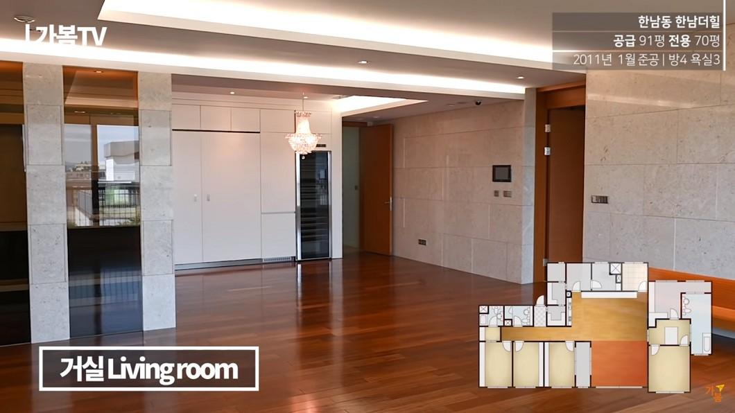 蘇志燮在首爾南洞高級豪宅區,買下1間91坪豪宅。圖/翻攝Youtube