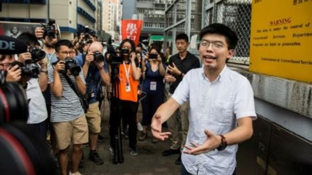圖/翻攝自APF 黃之鋒期滿今出獄 呼籲港府撤逃犯條例