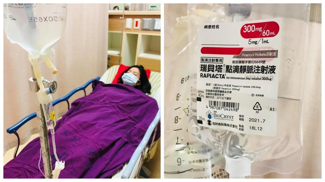 吳怡霈一度發高燒到38.6度,硬撐拍完8場戲後才到醫院掛急診吊點滴。(圖/翻攝自臉書)