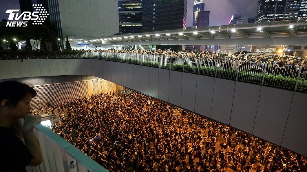 圖/中央社 200萬港人示威 美國務院:反送中爭基本權利