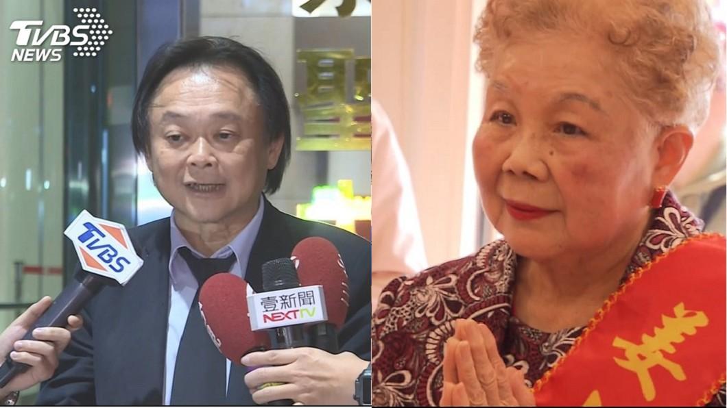 台北市議員王世堅(左)、台北市長柯文哲的媽媽(右)。圖/TVBS資料照 看不下去柯文哲遭王世堅砲轟 柯媽飆:老天一定會責罰你