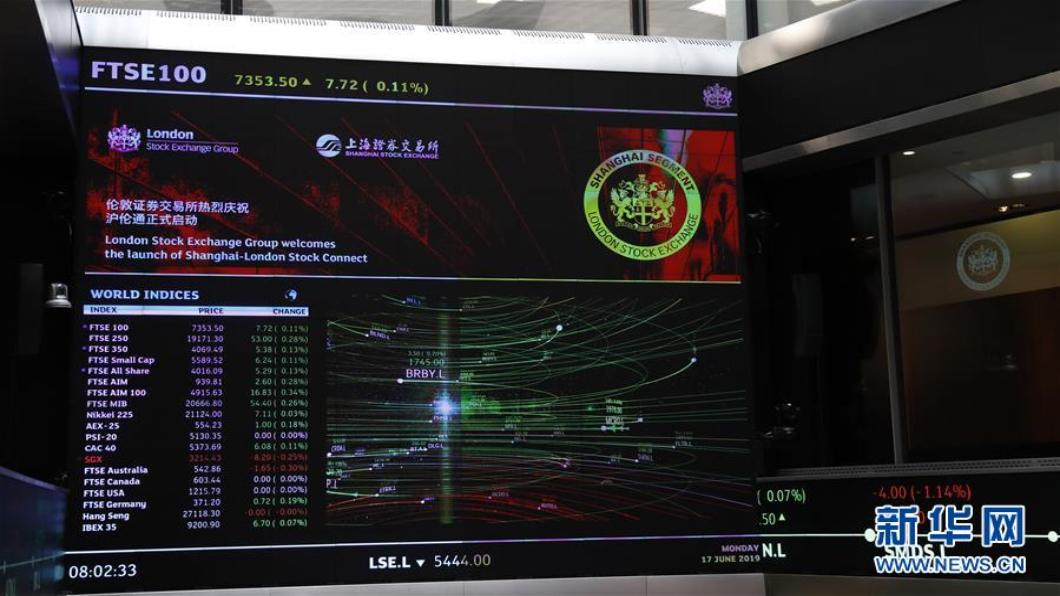 圖/翻攝自 新華網 打通中英資本市場 「滬倫通」正式啟動