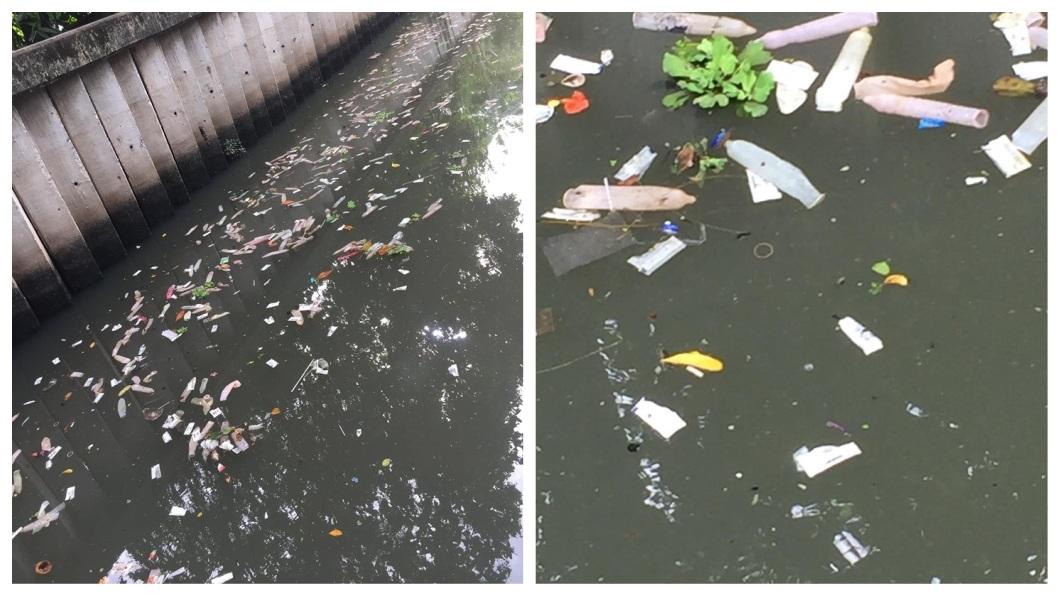 事後相關單位追查,應是附近一間酒店所排放出來的垃圾。(圖/翻攝自臉書)