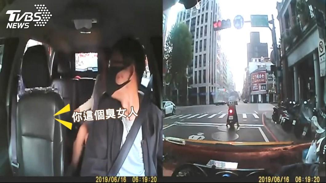「不坐我車」!對街乘客遭攔截 運將攔車飆罵