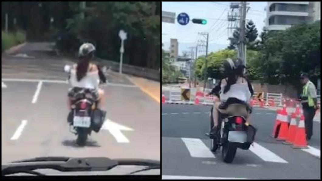 圖/翻攝臉書 正妹短裙飛起「黑丁美臀」秒曝光 老司機:被迫回不了家