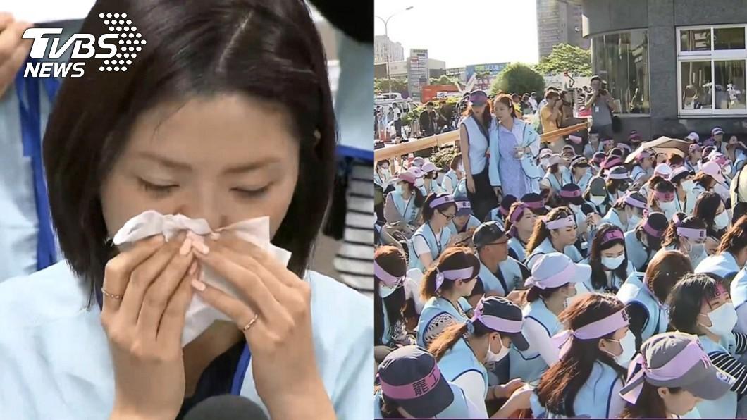 圖/TVBS 逼擦洋男屁股空姐現身 聲援罷工坦言「我是小小導火線」