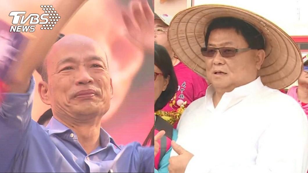 圖/TVBS資料畫面 韓國瑜來台中求支持 顏清標要他「說的話要做到」