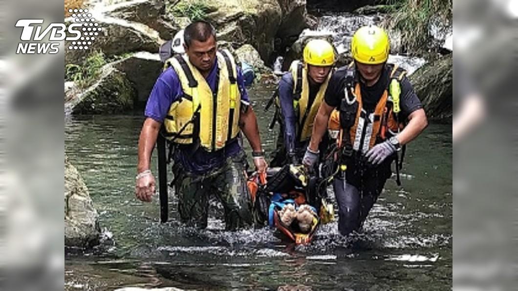 圖/中央社 屏東神山瀑布溺水意外 2大學生無生命徵象