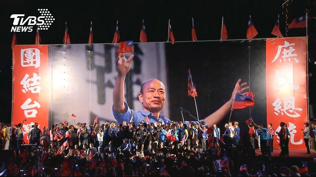 高雄市長韓國瑜昨日(22日)則前往台中會韓粉,主辦單位宣稱現場有20萬人來相挺。圖/TVBS資料照 台中20萬人挺韓國瑜穩贏? 他分析:715前4大變數