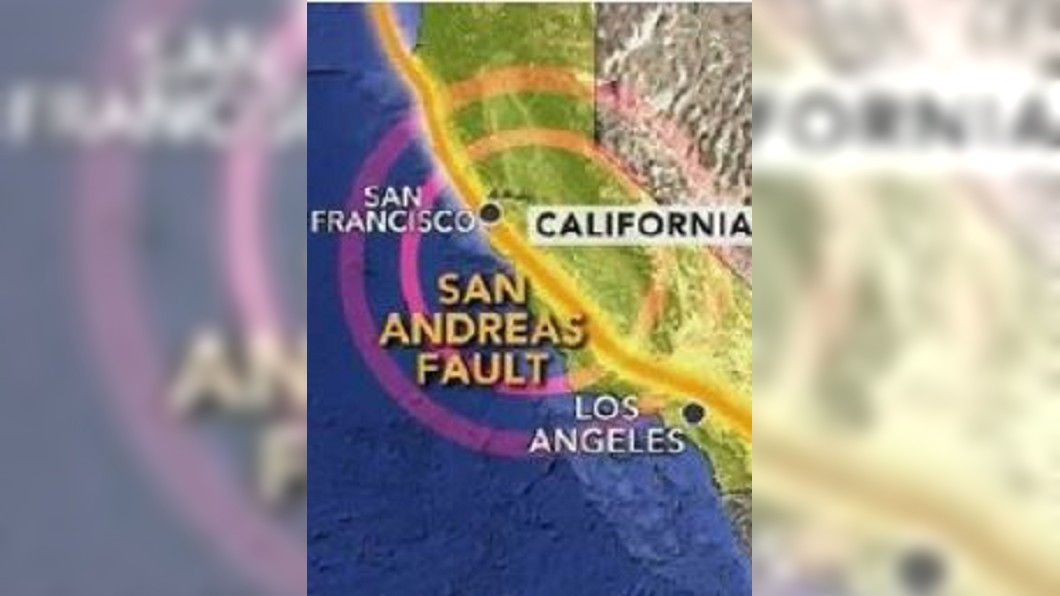 圖/翻攝自洛杉矶黄都督微博 南加6月千次小地震 今北加5.6淺層地震