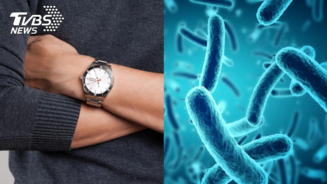 手錶錶帶的細菌含量平均式是馬桶座的3.1倍。示意圖/TVBS 錶帶卡垢細菌多!運動手錶最髒 含菌量比馬桶座高8倍