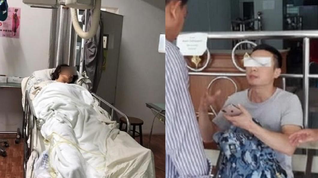 孕婦王女(左)墜落山崖送醫昏迷;丈夫俞男(右)。圖/翻攝自紅星新聞、騰訊網 孕婦遭丈夫推下34M懸崖重度昏迷 婆婆:沒死幹嘛報警
