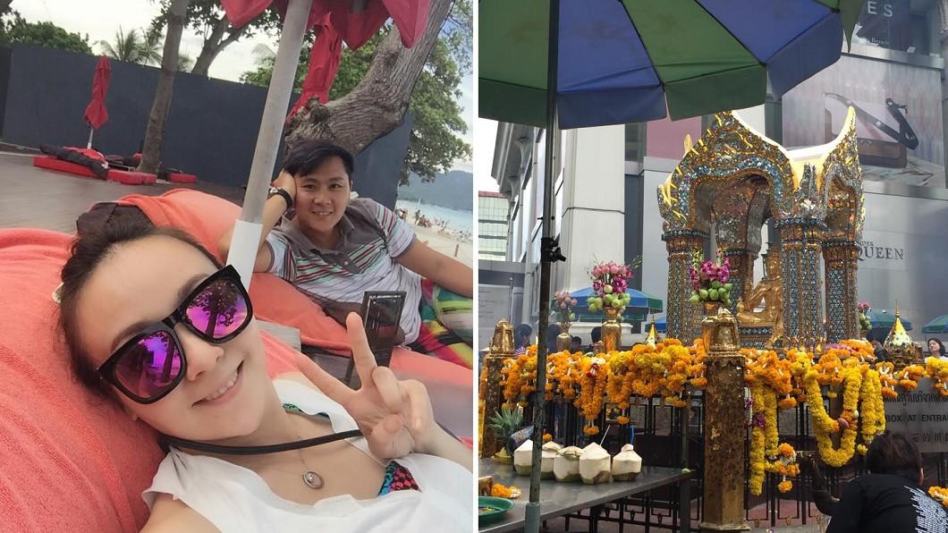 藝人王仁甫和季芹4年前去蘇美島和曼谷旅行,遇上恐怖爆炸案。圖/翻攝自王仁甫和季芹之永遠的芹仁臉書 王仁甫出國慶生遇恐怖爆炸 司機一個提醒驚險逃過一劫