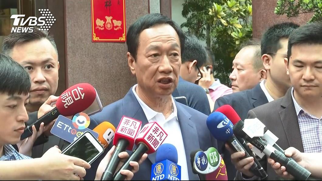圖/TVBS 回應「郭王配」 郭台銘:只要勝選任何合作都可能