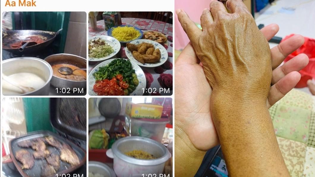 網友Lela Jamil在推特上抱怨,媽媽手骨折忍傷煮飯,卻遭親戚失約。圖/翻攝自Lela Jamil推特 母忍手骨折煮團圓飯 等到晚上10點...親戚沒一個來