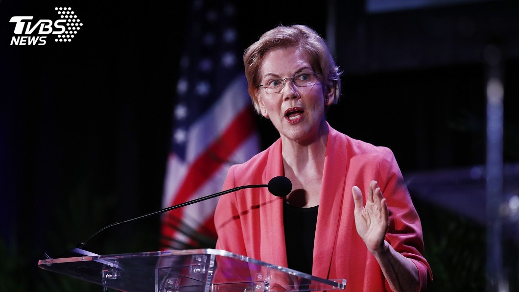 圖/達志影像美聯社 美民主黨初選辯論首日 參議員華倫最受注目