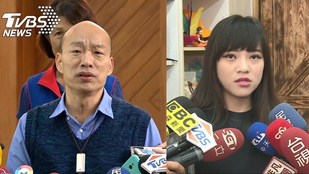 高雄市長韓國瑜(左)、時代力量高雄市議員黃捷(右)。圖/TVBS資料畫面 黃捷轟韓國瑜沒擔當 他提5點反嗆:妳為防疫做了什麼?