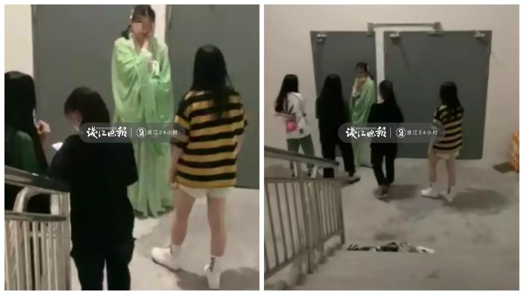 浙江溫州日前發生一起霸凌事件。(圖/翻攝自錢江晚報) 14歲女逛百貨…好奇多看一眼 遭4女狠拖至樓梯間圍毆