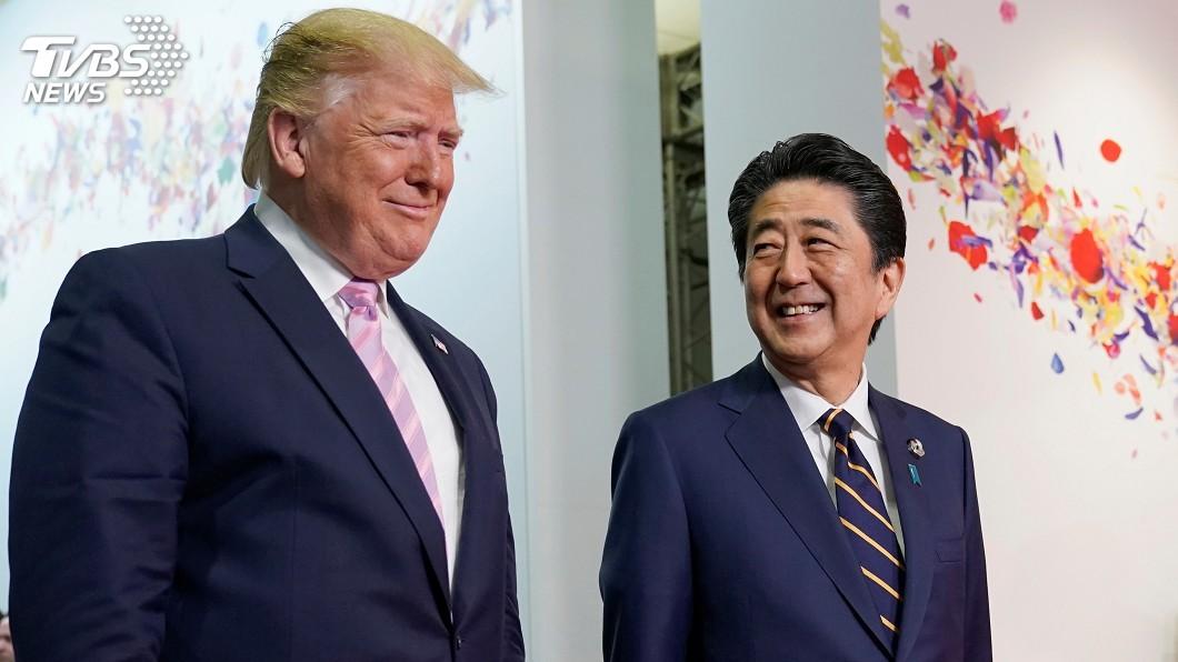 圖/達志影像路透社 川普安倍G20場邊會 聚焦貿易和軍購議題