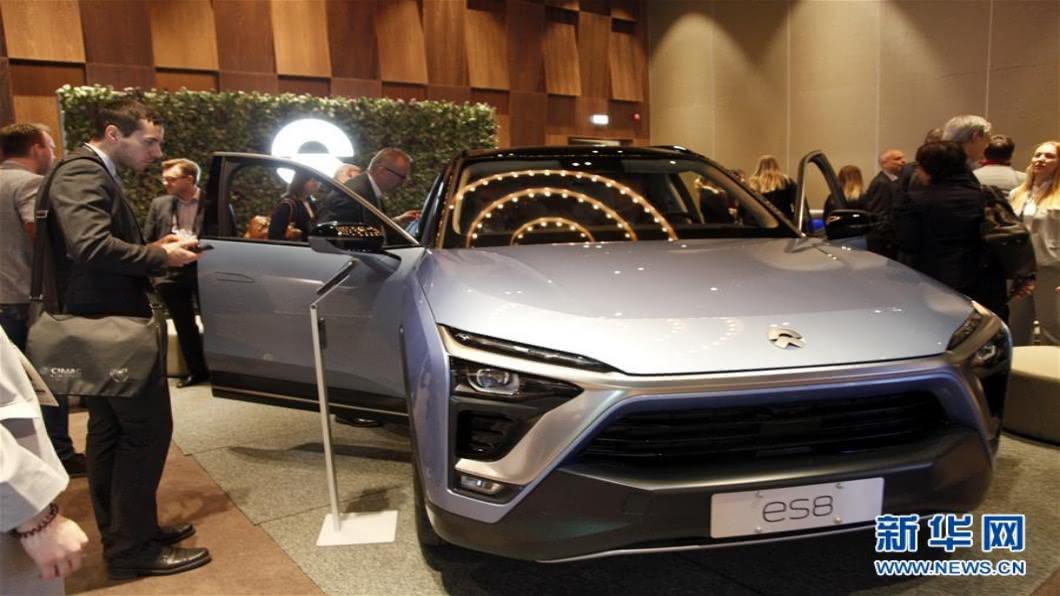 圖/翻攝自 新華網 蔚來ES8接二連三自燃 宣布召回4803輛車