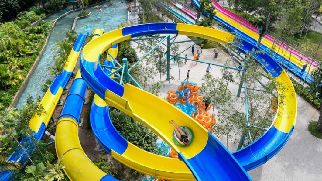 世界最長滑水道即將在馬拉西亞登場。圖/翻攝自Escape Theme Park, Penang臉書 世界最長滑水道即將登場! 穿越叢林尖叫4分鐘