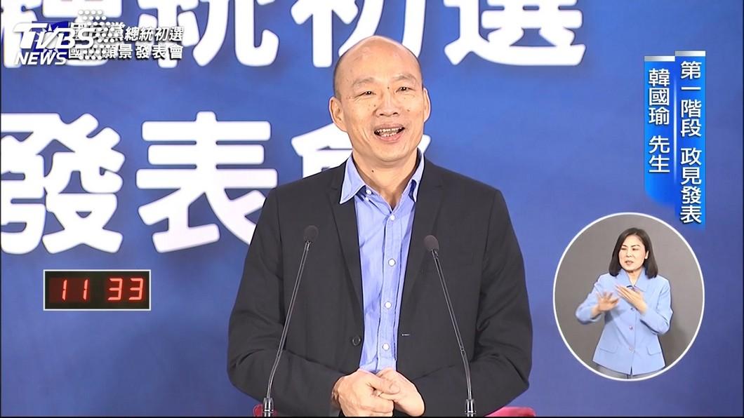 圖/TVBS 藍政見會! 韓國瑜喊長照保險+國民年金