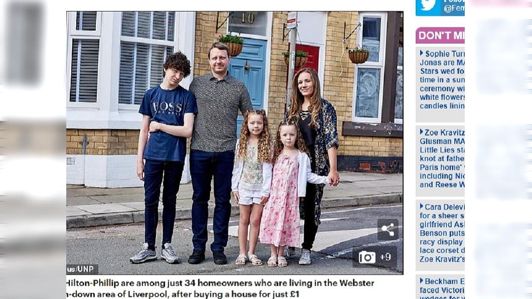 一家五口只花了1英鎊,買了位於利物浦市韋伯斯特三角區的房子。圖/翻攝自「每日郵報」